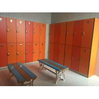 China Strong / Durable Red Changing Room Lockers PVC Material With Cam Lock wholesale
