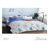 China Soft Cotton Natural Green And White Bedding Sets With Cusotmized Logo wholesale