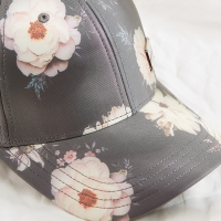 China Snapback Women Floral Pattern Sublimation Baseball Cap wholesale