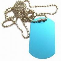 China Aluminum Dog Tag, Different Sizes, Colors and Logos are Available, Suitable for Promotional Gift wholesale