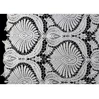 China Heavy Embroidey Polyester Lace Fabric With French Venice Guipure DTM Azo Free wholesale