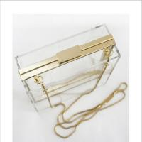Quality Lucite acrylic clutch box / clear acrylic storage containers For Girls for sale