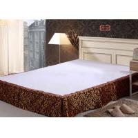 China Brown Color Hotel Bed Skirts With Jacquard Logo Special Design BS-0010 wholesale