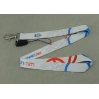 China Promotional Satin Sublimation Lanyards Mobile Straps Two Sides Printing on sale