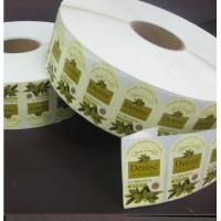 China Denise Olive Oil Printed Adhesive Sticker Labels Paper in Roll wholesale