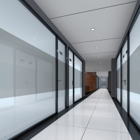 China 28 Type Narrow Frame single Toughened Glass wall Office Acoustic Tempered Glazed Panel Partition wholesale