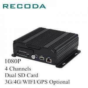 China 1080P 4Ch Dual SD Card Car Dvr Camera Recorder , Vehicle Dvr System 4G/WIFI/GPS wholesale