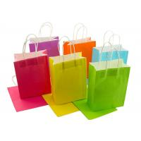 Buy cheap Neon Colored Blank Paper Packaging Bags Rainbow Assortment with String Handles from wholesalers