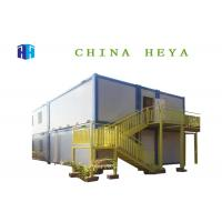 China 2 Bedroom Sandwich Panel Container House , 20ft Steel Frame Prefab House wholesale
