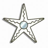 Buy cheap Wall Hanging Decoration/Star Mirror with Black Painted Finish, Measuring 50 x 47 from wholesalers