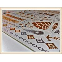 China Nontoxic Custom Gold And Silver Temporary Tattoos Certification wholesale