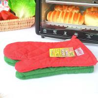 China Eco Friendly Customized Heat Resistant Kitchen Gloves With Logo Embroidery wholesale