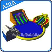 China Inflatable Giant Water Park Pool with Slide , Removable Theme Inflatable Water Park wholesale