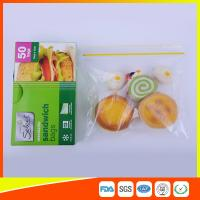 China Waterproof Plastic Sandwich Bags Reclosable 18 X 17cm For Food Storage wholesale