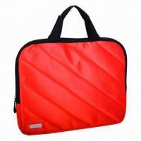 China Promotional Laptop Bag, Made of Nylon Twill and PU wholesale