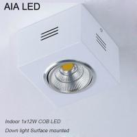 China IP42 White indoor surface adjustable COB 12W spot down light&LED Grille light wholesale