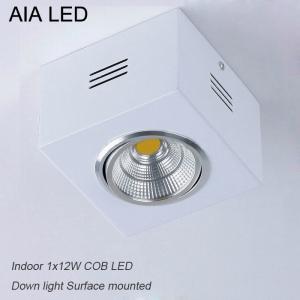 China IP42 White square adjustable COB 12W led down light&LED Grille light wholesale