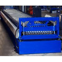 China Colored Steel Corrugated Roof Roll Forming Machine High Tensile Thin Barrel on sale