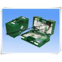 China Heavy Duty ABS First Aid Dressing Medical Emergency Kits Military Green With Wall Fixing Bracket wholesale