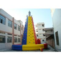 China Colourful  Inflatable Interactive Indoor Inflatable Climbing Wall Hire wholesale