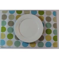 China Blue Dot Dining Table Mats Custom Printed Placemats For Adults wholesale