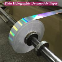 China Ultra Destructible Tamper Evident Label Material , 3D Hologram Stickers wholesale