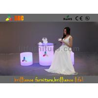 China Led Round Bar Stool , LED Cube Chair Glow Furniture With Wireless Remote Control wholesale