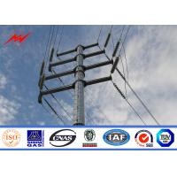 China 69kv Galvanized Steel Utility Pole For Electricity Distribution Line wholesale