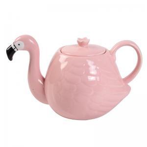 China White Wedding 780ml Pot Flamingo Tea Set wholesale