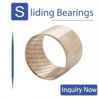 China Bronze Bearings Made of CuSn8 with Lubrication Indents Plain Cylindrical Bearings Flanged Bearings Grease Reservoirs on sale