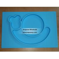 China Custom Color silicone plate for kids, factory price with FDA.CE,ROHS wholesale