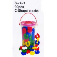 China Toy, Educatinal Toy, Block Toy, Teaching Aid, Smart Toy, C-Shape Blocks (S-7421) wholesale