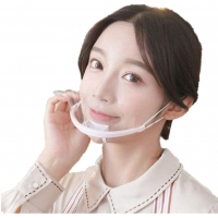 Buy cheap Lightweight Droplets Prevention Transparent Plastic Face Mask from wholesalers
