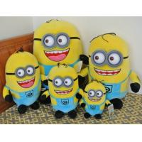 Quality Cute Cartoon Plush Toys Despicable Me Minion With 3D Eye Action Figure for sale