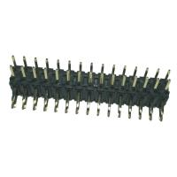 China Right  Angle Pin Header  2mm Pitch Connector , PA9T Black Double Row Header Connector wholesale