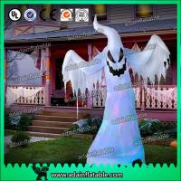 China Halloween Inflatable Decoration 3M Oxford Inflatable White Ghost With LED Light wholesale