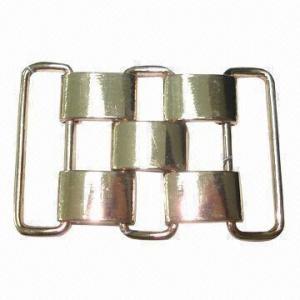 China Metal Buckle/Slider for Garment or Belt, Shiny Rose Gold Color wholesale