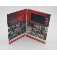 China Business Paper Lcd Video Mailer , Lcd Invitation Card A4 / A5 / A6 Finish Size on sale