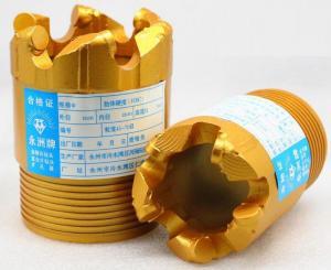 China Wearproof PDC Core Bit For Pebble , 75mm Diameter PDC Drill Bit wholesale