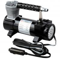 China Black Color Single Cylinder 150 PSI  Chrome Vehicle Air Compressors With Bag For Cars Inflation wholesale