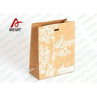 China Silk Screen Printing Brown Kraft Paper Gift Bags , Die Cut Rope Paper Goody Bags wholesale