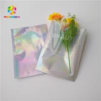 China Three Side Sealed Cosmetic Packaging Bag Laster Film Material Glossy Varnish Surface wholesale