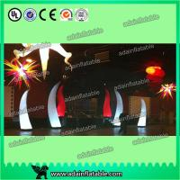 China Colorful Changing Inflatable Advertising , LED Inflatable Light Tower 3mH Party Event Cone wholesale
