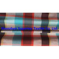 China Men's Shirt Custom Nylon Fabric Yarn Dyed Poplin Red Check 95GSM 228T wholesale