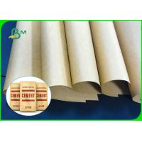 China 75gsm 80gsm 90gsm Strong Burst Resistance Brown Kraft Paper For Cement Bags on sale