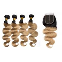 China 1B / 27 Color Body Wave Hair Bundles With Closure Can Be Bleached And Dyed wholesale