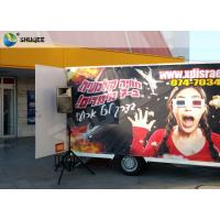 China Luxury Motion Chair Truck Mobile 5D Cinema With Snow / Bubble / Windy Simulation wholesale