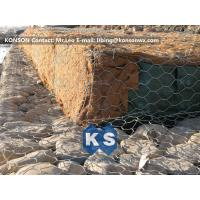 China Double-Twisted Hexagonal Gabion Mesh PVC Coated Wire Stone Gabion Cages wholesale