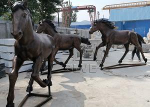 China Bronze Horse Statues Life Size Garden Running Horse Sculpture Outdoor Art Metal Animal wholesale