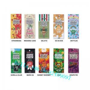 China Custom Printed Mylar Bags CBD Vape Cartridges Packaging Bag The Small Size Zipper Bag For Vape Tank wholesale